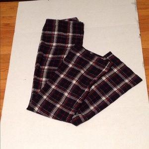 Vince Camuto black plaid slacks, sz:6